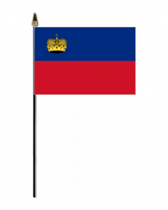 Liechtenstein Country Hand Flag - Small.